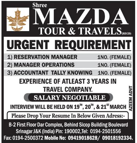 Mazada tour & travel