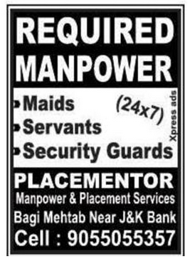 PLACEMENTOR Manpower & Placement Services