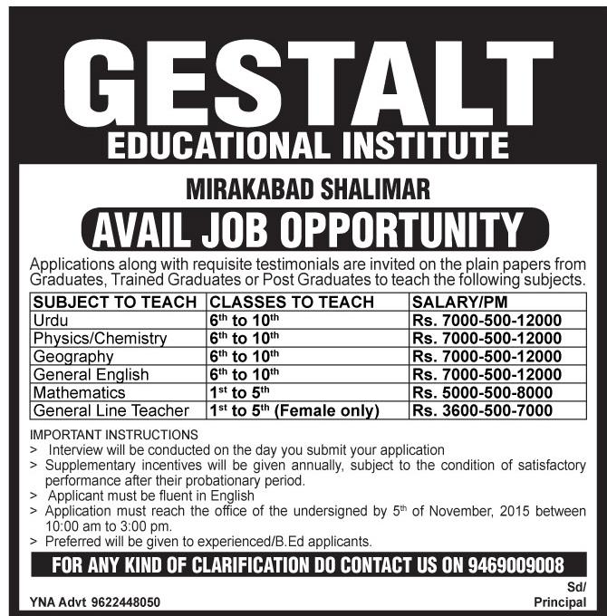 Gestalt Educational Institute