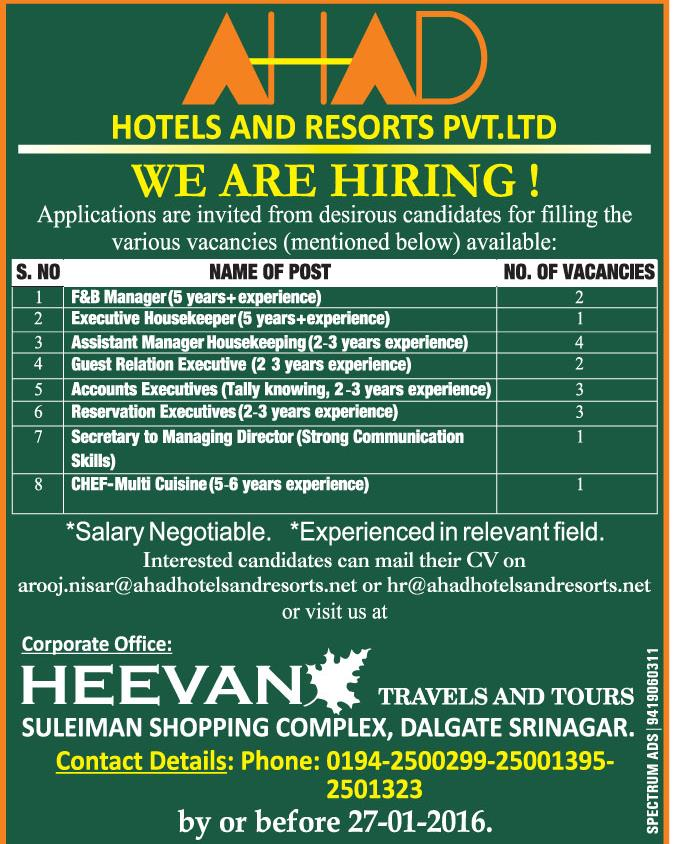 HOTELS AND RESORTS PVT.LTD