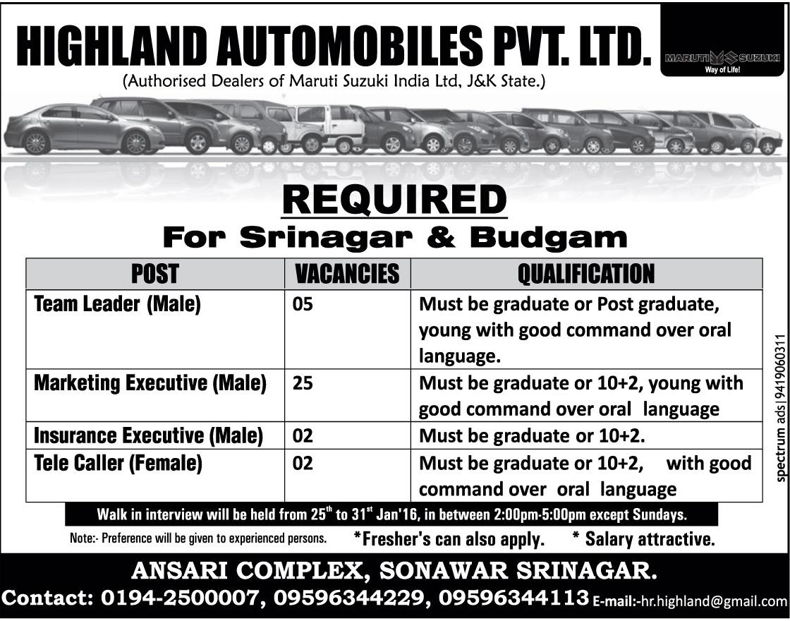 Highland Automobiles Pvt Ltd