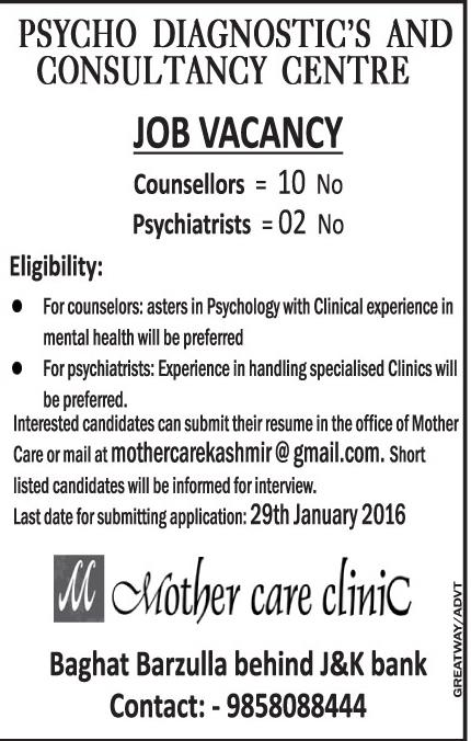 Psycho Diagnostic,s and consultancy Center