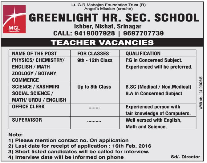 Greenlight hr. Sec. School