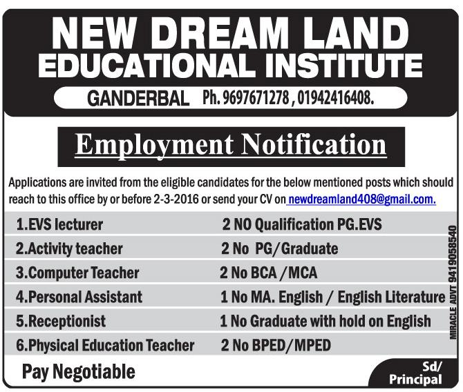 New dream land educational institute