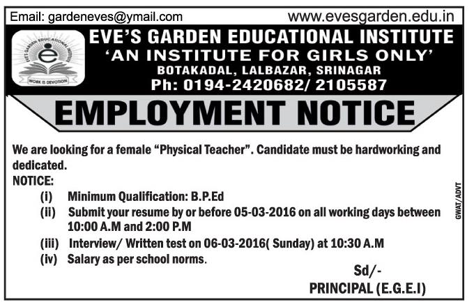 Eve's garden educational institute