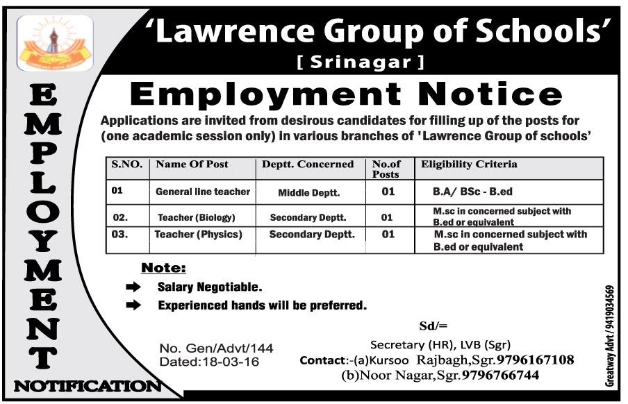 Lawrence Group of schools