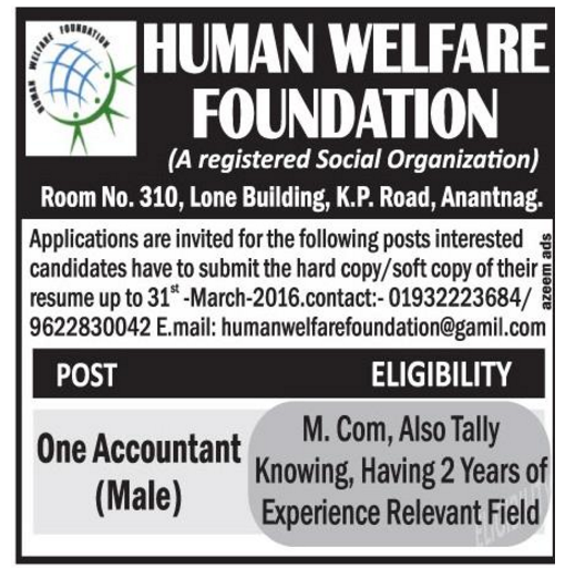 Human welfare foundation