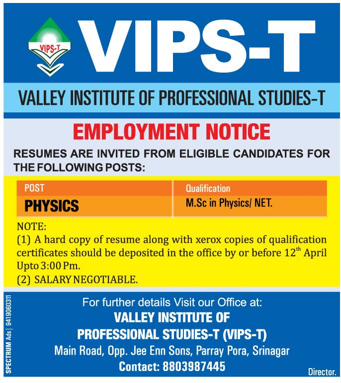 Valley institute of professional studies