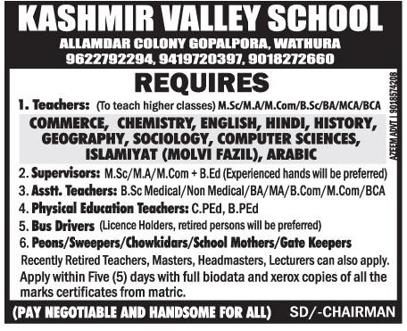 Kashmir valley school