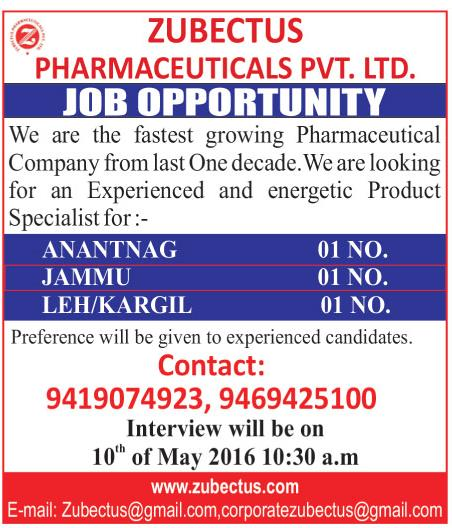 Zubectus pharmaceuticals pvt. Ltd.