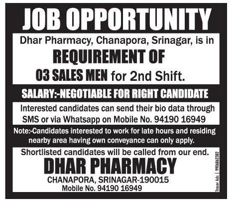 dhar pharmacy - 2nd Shift Careers 2nd Shift Employment 2nd Shift Jobs