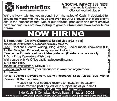 Kashmir Box Online Private Limited
