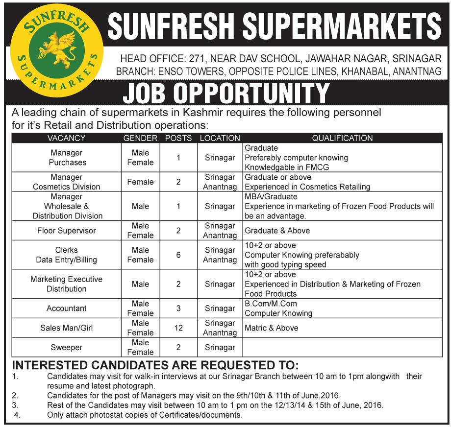 Sunfresh supermarkets