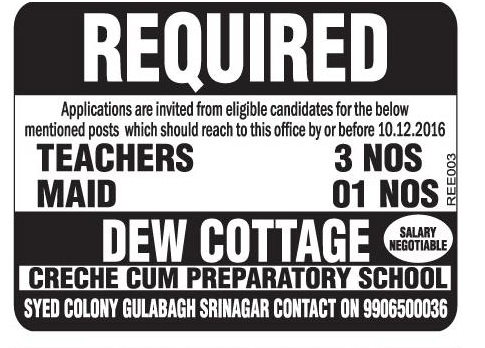 Dew cottage creche cum preparatory
