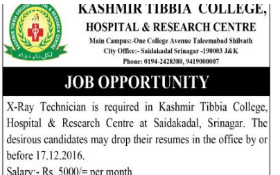 Kashmir Tibbia College hospital & research Centre