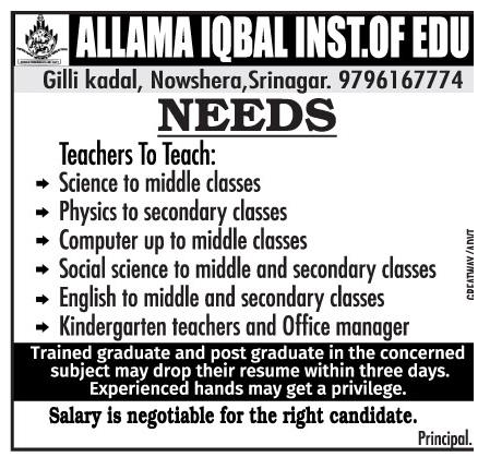 Allama Iqbal Inst of Edu