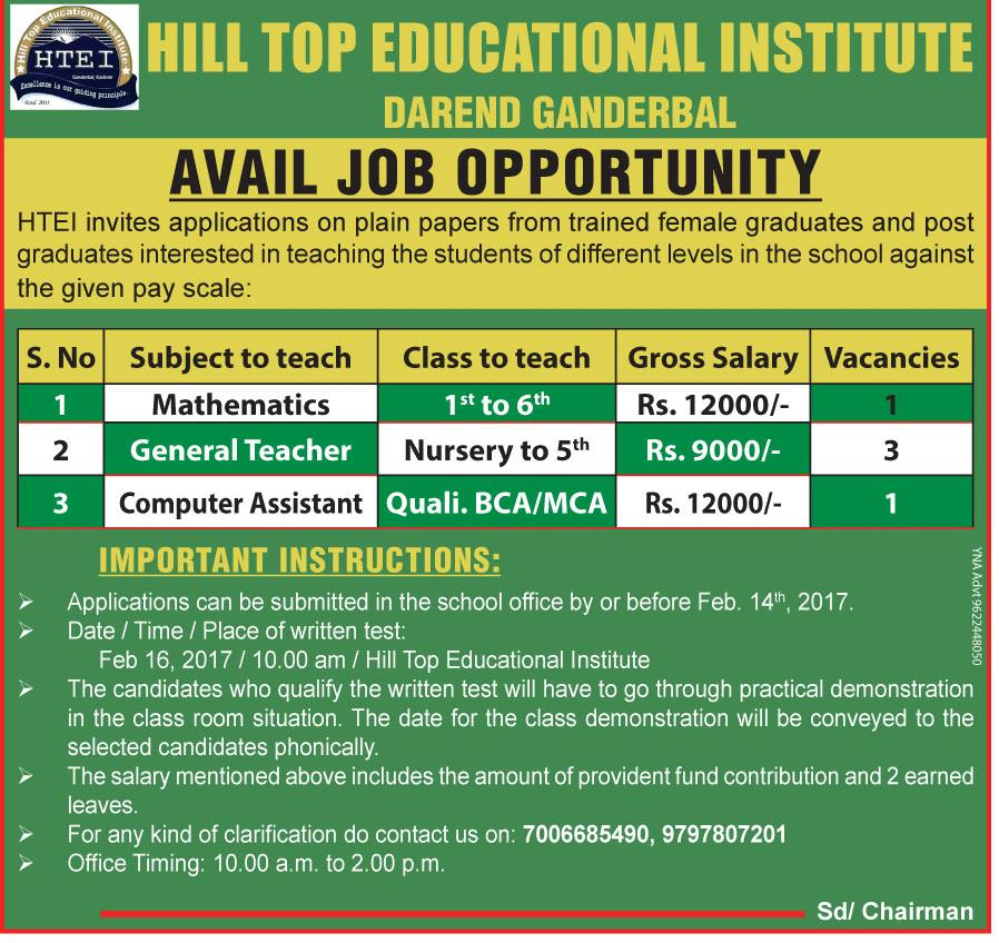 Hill Top Educational Institute
