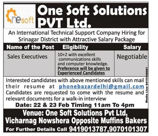 One Soft Solutions PVT Ltd.