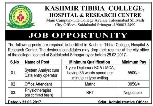 Kashmir tibbia college,hospital & research centre