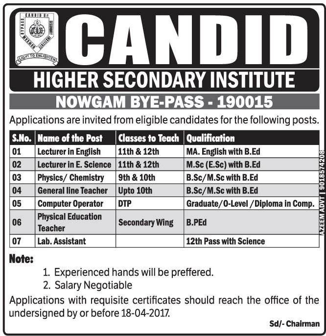 Candid higher secondary institute