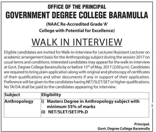 Government Degree College Baramulla