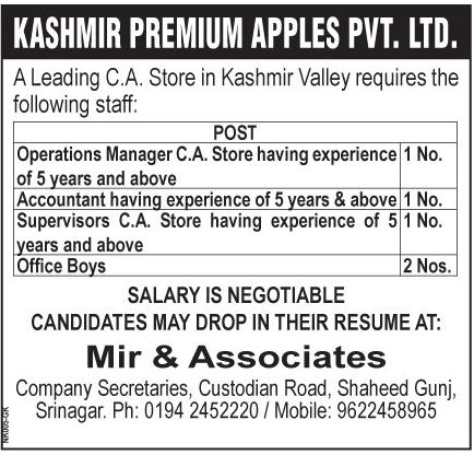 Kashmir premium Apples Pvt.Ltd