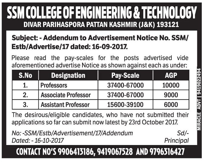 SSM college of Engineering & Technology