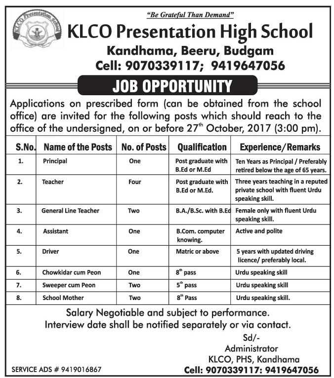 KLCO Presentation High School