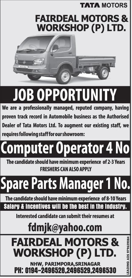 Fairdeal Motors & Workshop (P) LTD