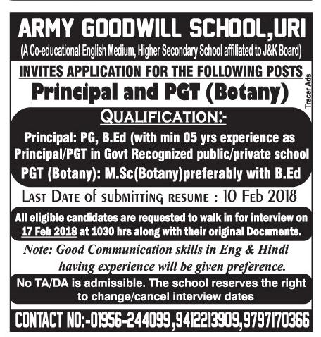 Army Goodwill School