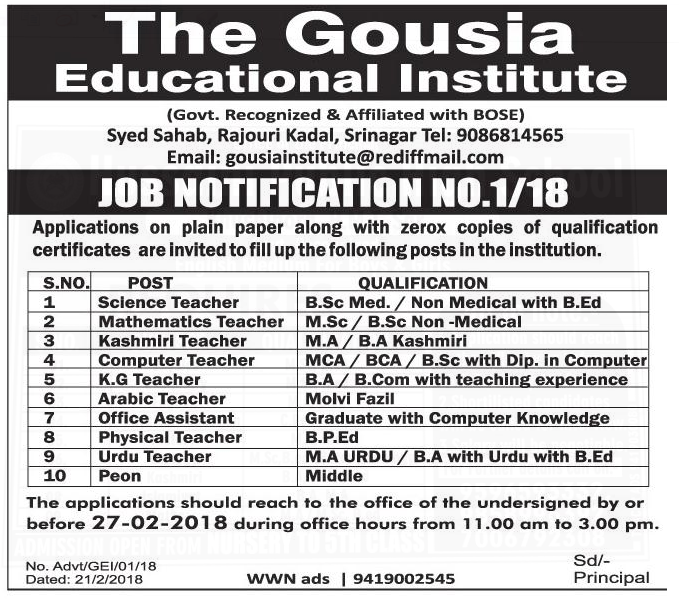 The Gousia Educational Institute