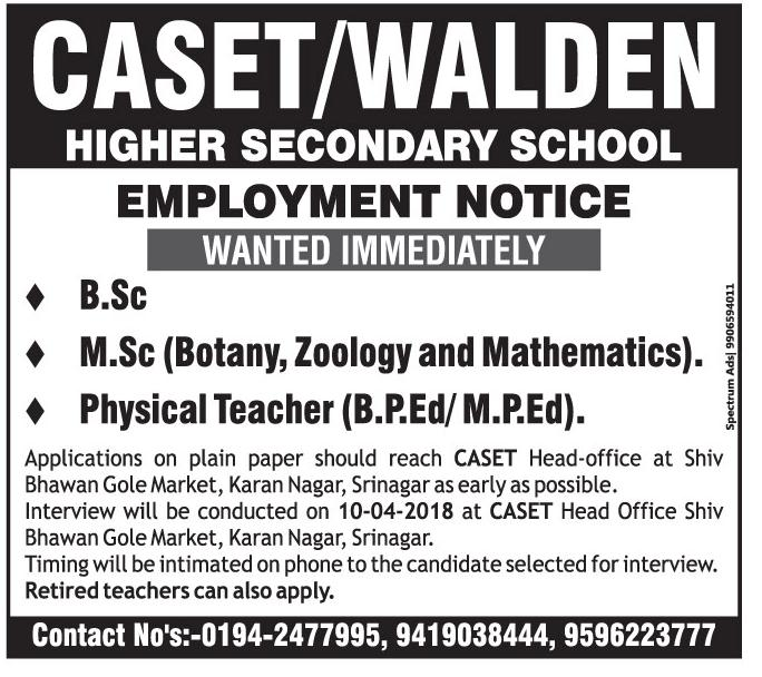 Caset/Walden Higher Secondary school