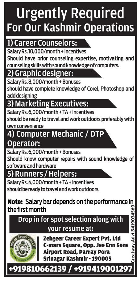 Zehgeer career cExpert Pvt Ltd