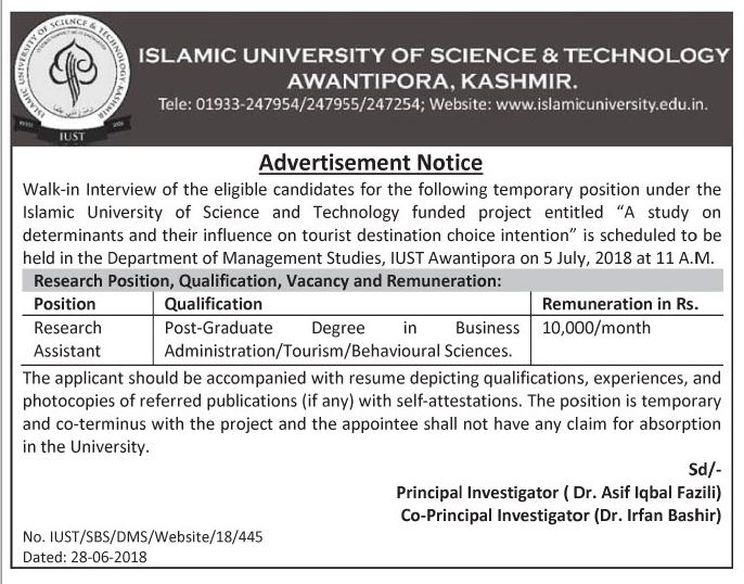 Islamic University Of Science Of technology