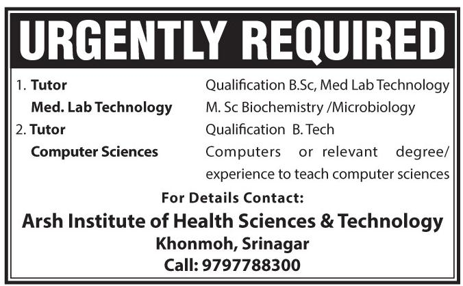 Arsh Institute of Health Sciences & Technology