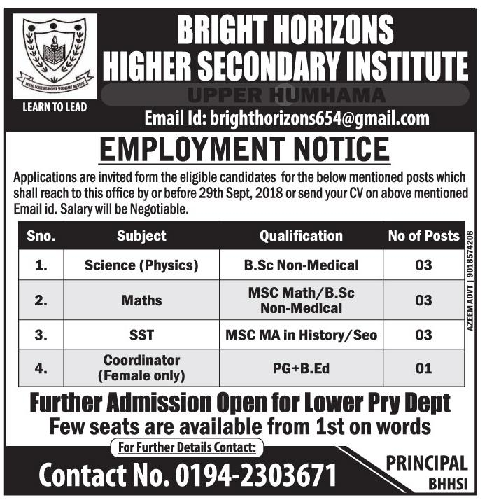 Bright Horizons Higher Secondary Institute