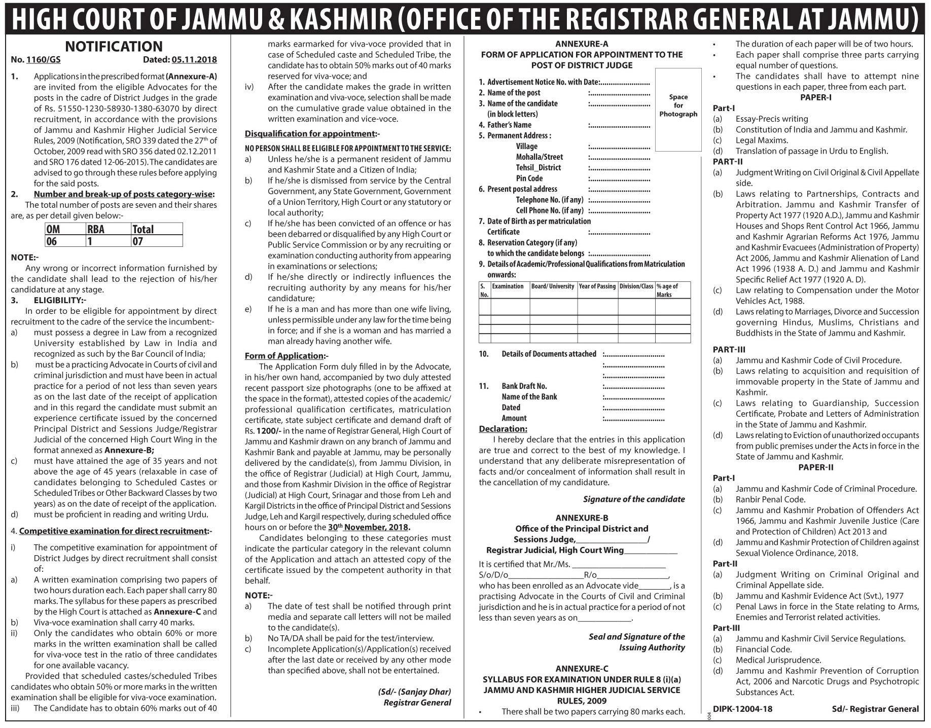 Govt Of jammu and Kashmir