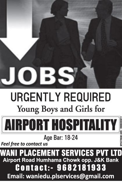 Airport job at Wani Placment Services Pvt Ltd