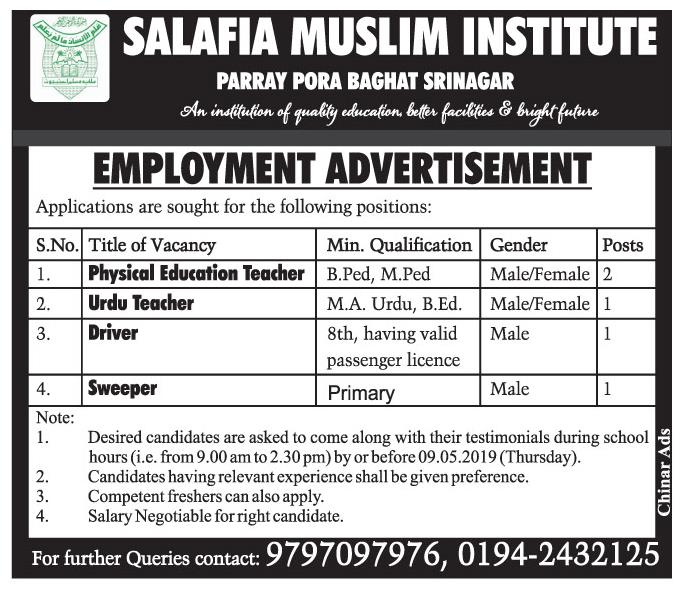 Teaching Staff in Salafia Muslam Institute