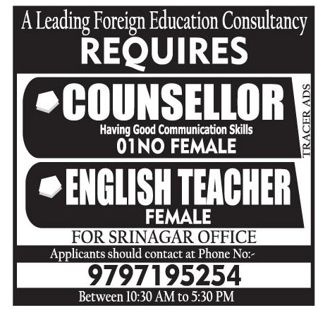 Job in A Leading Foreign Education Consultancy