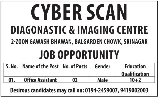 Jobs in Cyber Scan diagnostic & imaging Center