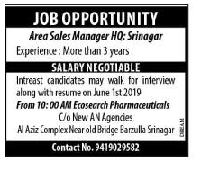 Job in AM Eco search Pharmaceuticals