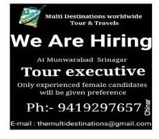 Jobs in Multi Destination Worldwide tour and travels