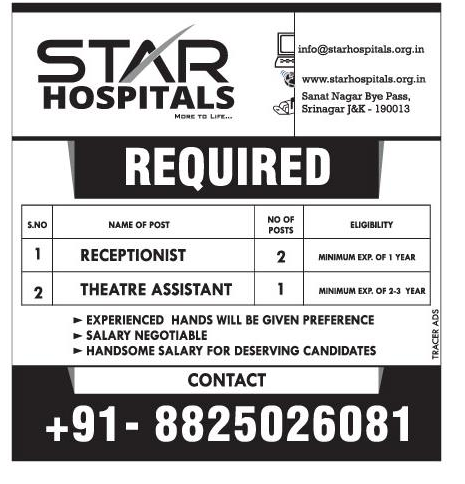Jobs in Star hospitals