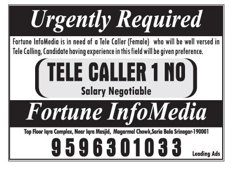 Jobs opening in Fortune Info media