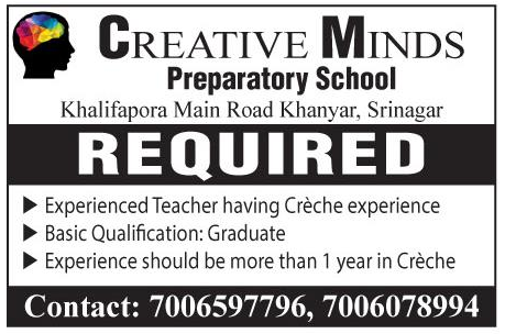 Job opening in Creative Minds Preparatory school