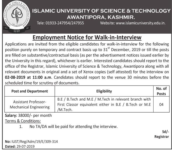 Assistant Professor Jobin Islamic university Science & Technology