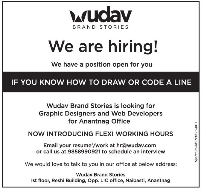 Job Opening in Wudav Branding Stories