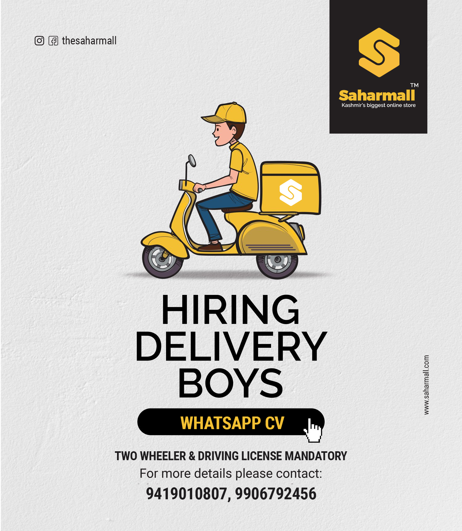 Job Update - Delivery Boys Required In Srinagar